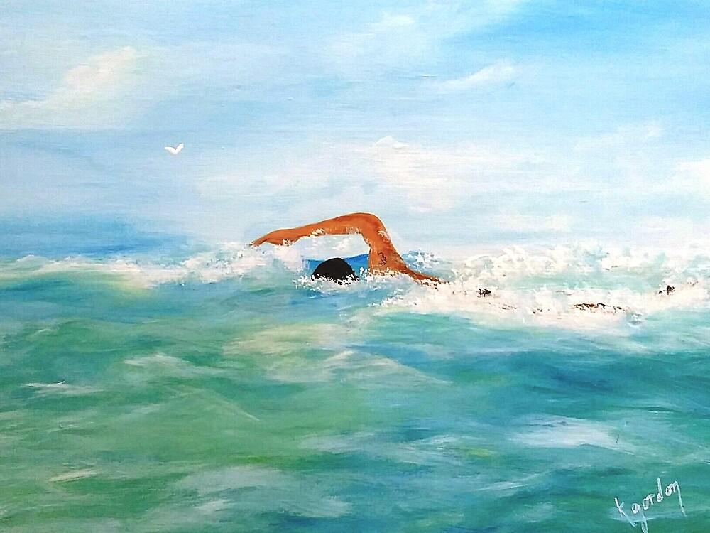 THE SWIMMER  by WhiteDove Studio kj gordon