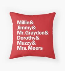 Thoroughly Modern Millie Characters | White & Red Throw Pillow