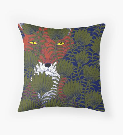 Invisible Fox Throw Pillow