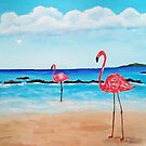 Pink Flamingos  by WhiteDove Studio kj gordon