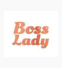 Boss Lady in Cursive Red Rock Photographic Print