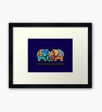 Littlest Elephant Love Links Framed Print