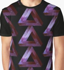 Infinite Penrose Triangle Galaxy Graphic T-Shirt