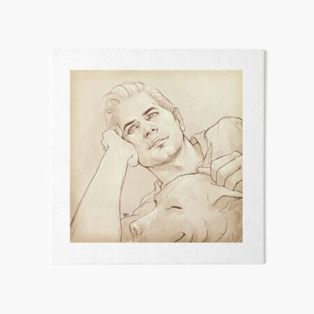 Looking at her (dreamy!Cullen) Art Board Print