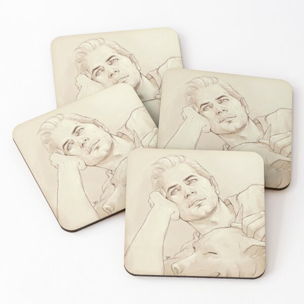 Looking at her (dreamy!Cullen) Coasters (Set of 4)