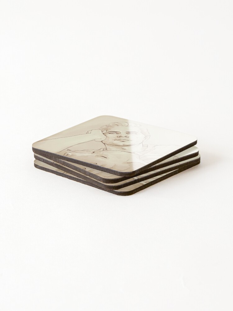Alternate view of Looking at her (dreamy!Cullen) Coasters (Set of 4)
