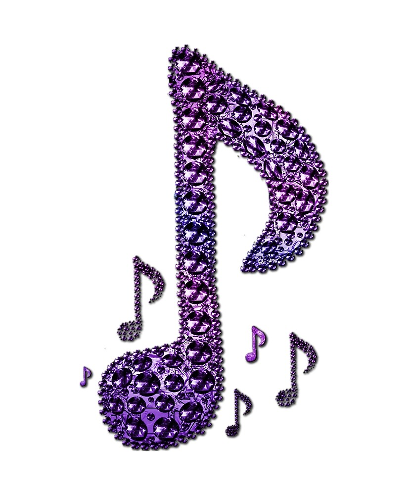 Purple Sparkle Music Notes Pattern by HavenDesign