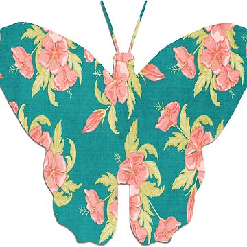 Butterfly with Floral Pattern by KirstenJRenfroe