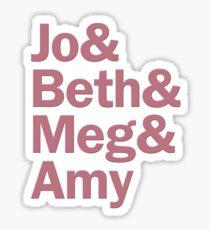 Little Women Characters | White & Mauve Sticker
