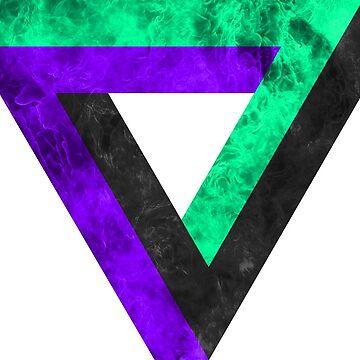 Penrose triangle infinite inverted de dupabyte