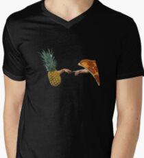 Creation of Pineapple Pizza Men's V-Neck T-Shirt