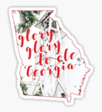 glory glory georgia Sticker