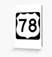 Route 78 Georgia Greeting Card