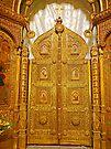 Golden Doors of St Nicholas Russian Church, Bucharest by Graeme  Hyde