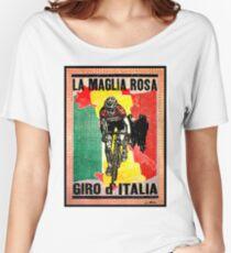 GIRO d ITALIA: Vintage La Maglia Rosa Print Women's Relaxed Fit T-Shirt