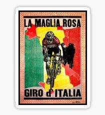GIRO d ITALIA: Vintage La Maglia Rosa Print Sticker