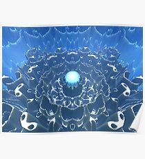 Blue Macro Sphere Poster