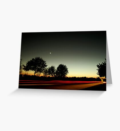 Dusk Streak Greeting Card