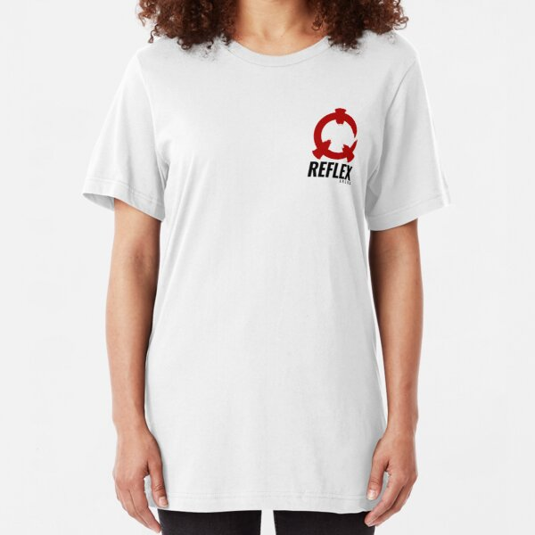 Reflex Arena - Red logo + black text Slim Fit T-Shirt