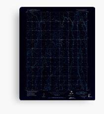 USGS TOPO Map Colorado CO Sunnydale 402120 1949 24000 Inverted Canvas Print