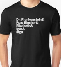 Young Frankenstein Characters   White Unisex T-Shirt