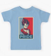 """Vegeta [3/3] -- """"Pride"""" (Hope Poster Parody) Kids Tee"""