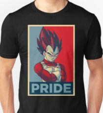 "Vegeta [3/3] -- ""Pride"" (Hope Poster Parody) Unisex T-Shirt"