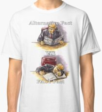 Trump : Alternative Fact VS FACT fact; funny/satirical/political hand-drawn illustration  Classic T-Shirt