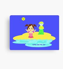 Cathy and the Cat - Fresh Water Canvas Print