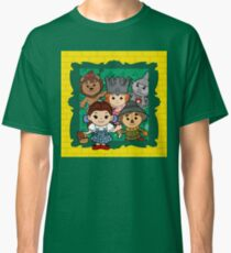 """""""Wizard of Oz"""" Kawaii, Yellow, Brick, Road, Emerald, Green, Dorothy, Ruby, Slippers, Toto, Cowardly Lion, Scarecrow, Tin Man, Basket, Purse, Gingham, Blue, Splatter, Paint  Classic T-Shirt"""