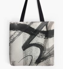 Black and White Abstract Art Tote Bag