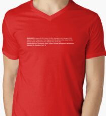 ingredients: horizontal Mens V-Neck T-Shirt