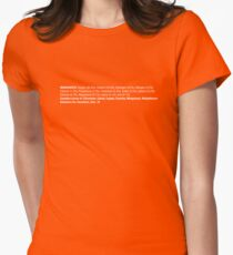 ingredients: horizontal Women's Fitted T-Shirt