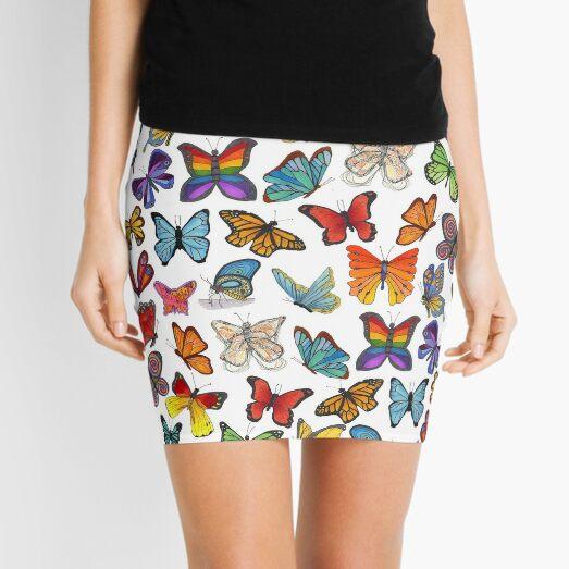 Butterflies, Butterflies, Butterflies Mini Skirt