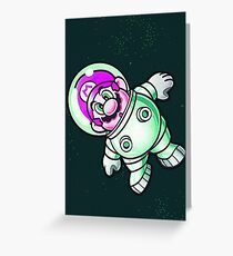 Space Mario Greeting Card