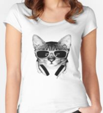 Cool Cat DJ Women's Fitted Scoop T-Shirt