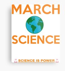 March for Science POWER Metallbild