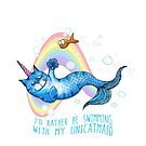 I'd Rather Be Swimming with My Unicatmaid by jitterfly