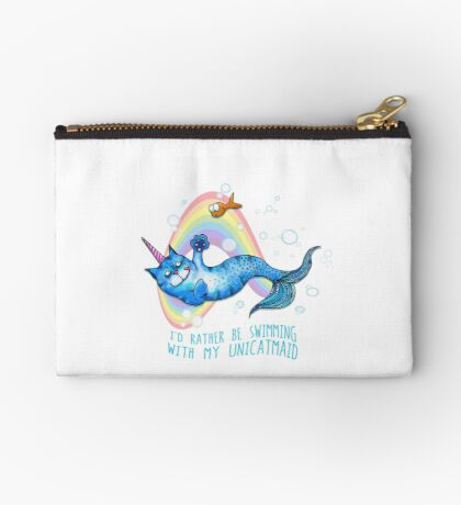 I'd Rather Be Swimming with My Unicatmaid Studio Pouch
