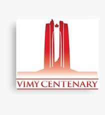 Vimy Centenary Flag Transition Canvas Print
