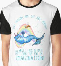 Half unicorn cat mermaid - unicatmaid Graphic T-Shirt