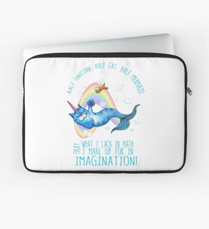 Half unicorn cat mermaid - unicatmaid Laptop Sleeve