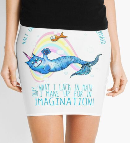Half unicorn cat mermaid - unicatmaid Mini Skirt