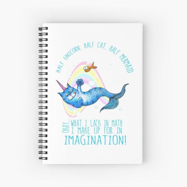 Half unicorn cat mermaid - unicatmaid Spiral Notebook