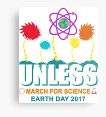 March for Science Unless cool Metallbild