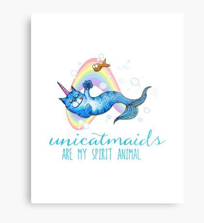 Unicatmaids are my spirit animal Metal Print