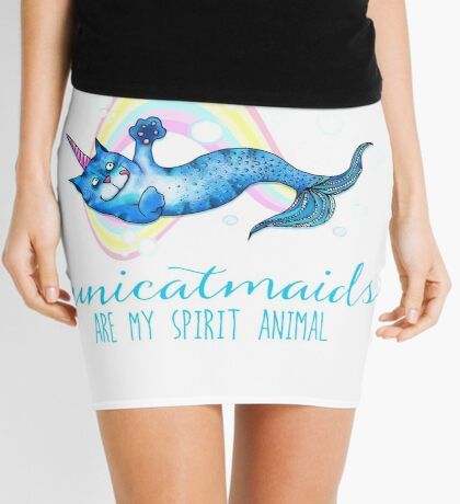 Unicatmaids are my spirit animal Mini Skirt