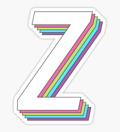 3D en capas 2.0 - zeta Pegatina