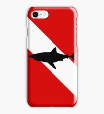 Diving Flag Shark iPhone Case/Skin