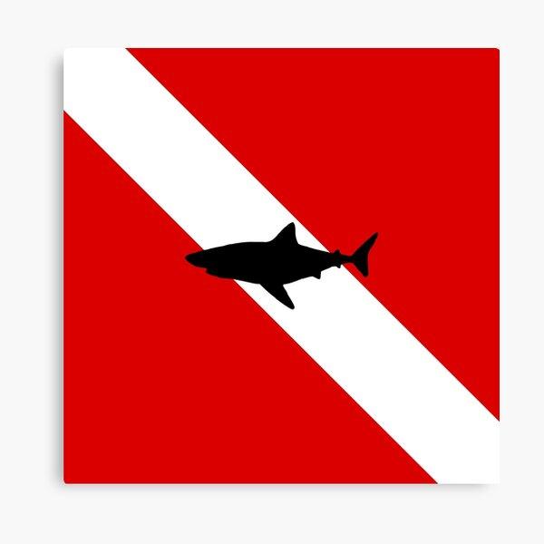Diving Flag Shark Canvas Print